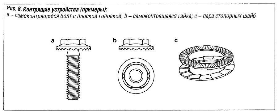 Контрящие устройства (примеры)