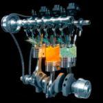 Заряд смеси в цилиндре бензинового двигателя