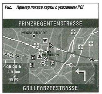 Пример показа карты с указанием POI