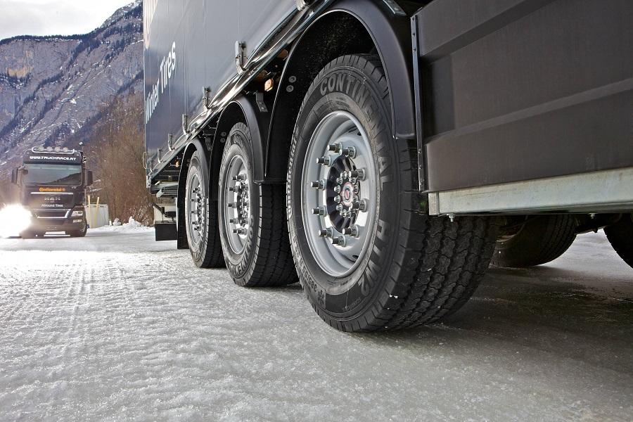 Сцепление шин грузовых автомобилей