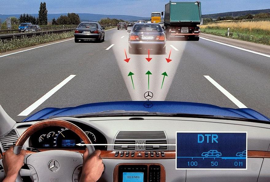 Датчики систем безопасности при движении автомобиля
