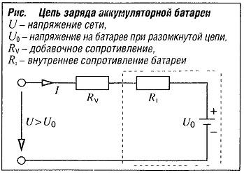 Цепь заряда аккумуляторной батареи