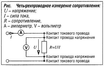 Четырехпроводное измерение напряжения