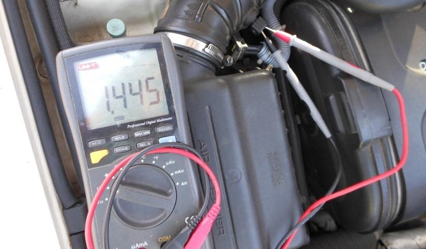 Проверка датчика температуры воздуха