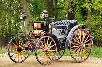 Первый четырехколесный автомобиль Victoria
