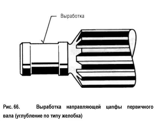 Выработка направляющей цапфы первичного вала (углубление по типу желобка)