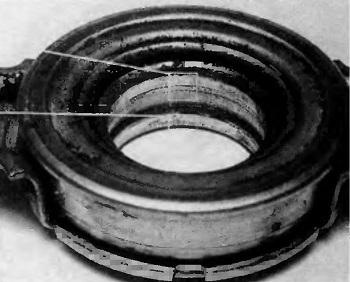 Износ поверхности скольжения выжимного подшипника
