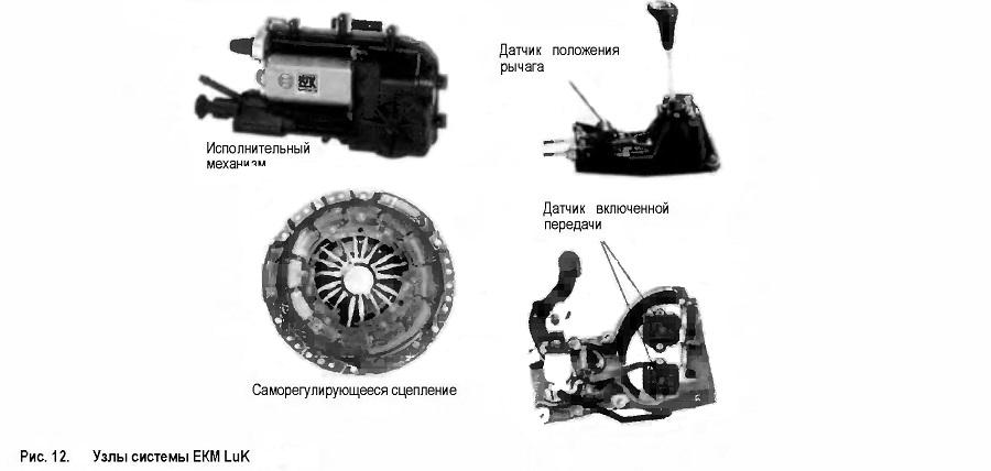 Узлы системы ЕКМ LuK