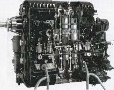 Двухтактный авиационный дизель Junkers Jumo 205 с противоположно движущимися поршнями